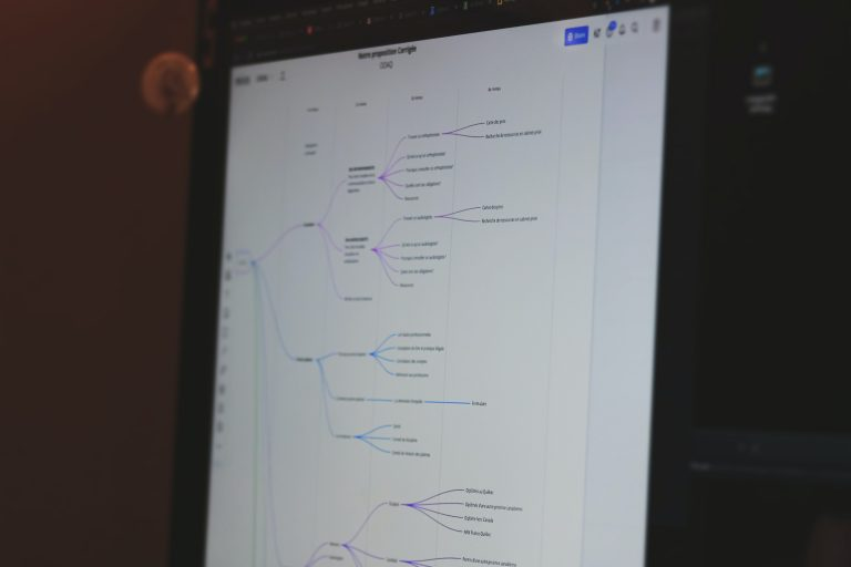 Tree structure on a tablet screen